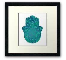 Blue Hamsa Framed Print