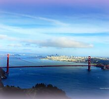 Golden Gate Bridge in Distance by Charmiene Maxwell-batten