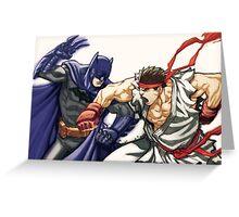 Dark Knight vs Street Fighter Greeting Card