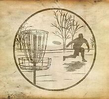 disc golfer by Paul Simms