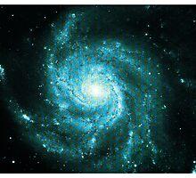 Pinwheel Galaxy [Blue Version] | Sacred Geometry Pattern by SirDouglasFresh