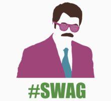 Swagga Ron Swanson by crimsonking842