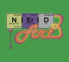 nerd ART - elemental light neon glow Kids Clothes