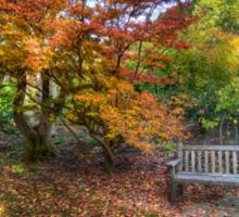 Autumn Bench Sticker