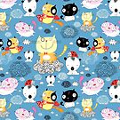 classy pattern of funny cats  by Tanor