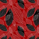 graphic texture of the leaves by Tanor