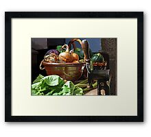 Onions in a Bowl Framed Print