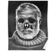 """Ernest """"Skull"""" Hemingway Poster"""