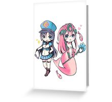 Cute Officer Caitlyn & Koi Nami - League of Legends! Greeting Card