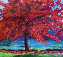 Scarlet Tree by kellyfineart