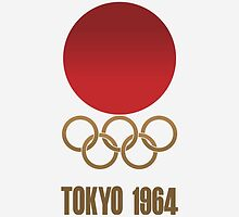 1964 Japan Tokyo Summer Olympics Logo by BXRdesign