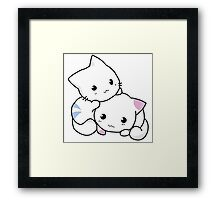 Two Kitties -  Cuteness overload Framed Print