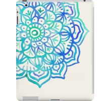 Watercolor Medallion in Ocean Colors iPad Case/Skin