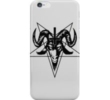 Satanic Goat Head with Pentagram (black) iPhone Case/Skin