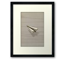 Paper Airplane 25 Framed Print