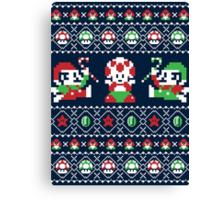 Super Christmas Bros Canvas Print