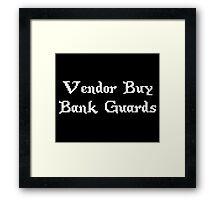 Vintage Online Gaming Vendor Buy Bank Guards Framed Print