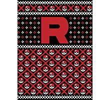 Christmas I Choose You! - Team Rocket Christmas Sweater Photographic Print