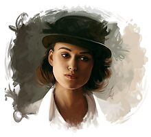 Keira Knightley fanart digital painting  by Thubakabra