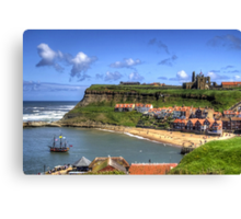 The Endeavour in Whitby Harbour Canvas Print