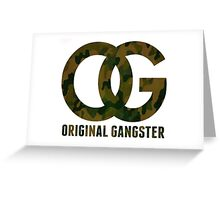Original Gangster Greeting Card
