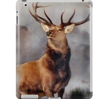MONARCH OF THE GLEN, Digital Painting of this famous Stag iPad Case/Skin
