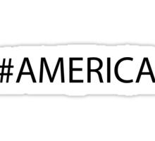 #America Black Sticker