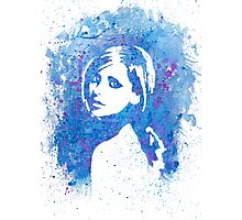 Buffy Sarah Michelle Gellar Watercolor Portrait Photographic Print