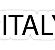 #Italy Black Sticker