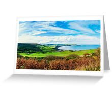 Scenic View over of Robin Hoods Bay in Ravenscar, North Yorkshire, England Greeting Card