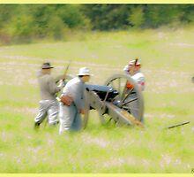 Confederate Cannoneers by Robert Burdick