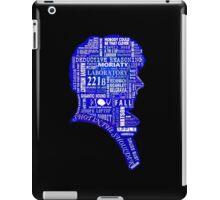 Sherlock typography (blue) iPad Case/Skin