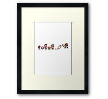 Evolution of Super Mario Framed Print