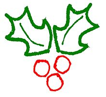 Simple Holly Sprig by prettyangry