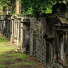 Headstones, The Parish Church of St. Cuthbert, Edinburgh, Scotland by fotosic
