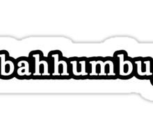 Bah Humbug - Christmas - Hashtag - Black & White Sticker