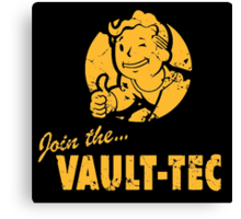 Join the Vault-Tec / Fallout Canvas Print
