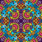 Psychedelic jungle kaleidoscope ornament 32 by Andrei Verner