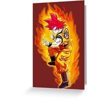 GokuGod Greeting Card