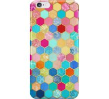 Patterned Honeycomb Patchwork in Jewel Colors iPhone Case/Skin