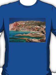 Fyriplaka beach, Milos island T-Shirt