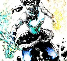 Avatar Korra (less color) by WCPerryAndrez