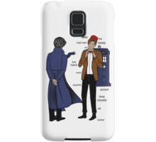 Sherlock meets the Doctor Samsung Galaxy Case/Skin