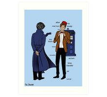 Sherlock meets the Doctor Art Print