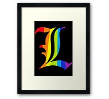 Rainbow L Framed Print