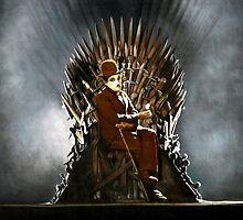 Charlie Chaplin - Game of Thrones - Iron Throne by zenoconor