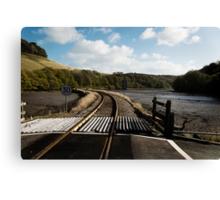 Rail & River Canvas Print