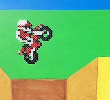 Excitebike (Paint 'N' Beads) by christiantyner