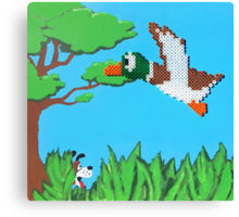 Duck Hunt Brown (Paint 'N' Beads) Canvas Print