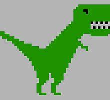 Pixelsaurus Rex in Green by wearmoretees